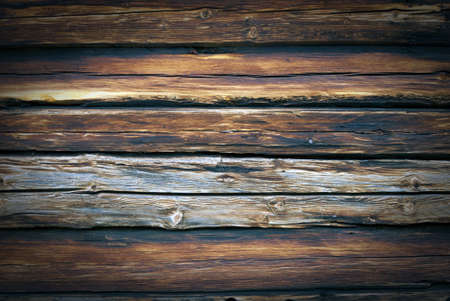Old, grunge wood wall used as background  photo