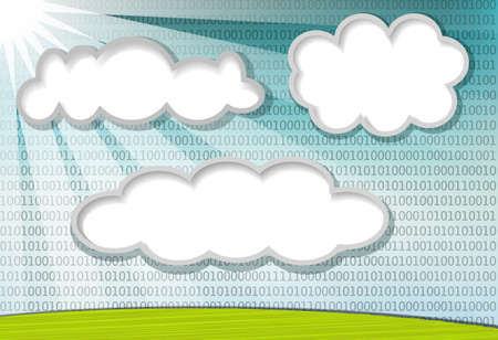Clouds with copy space for your text picture or message, conceptual for cloud computing Stock Vector - 13629055