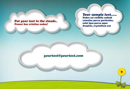 Clouds with copy space for your text or message Stock Vector - 13629035