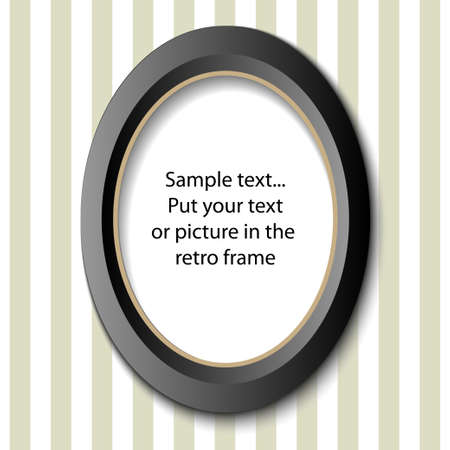 Picture frame in retro design - for your text or image Vector