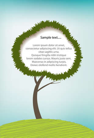 Illustration of tree with copy space Stock Vector - 13909706