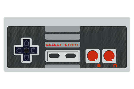 Retro game controller without cable, eps10 vector Vector