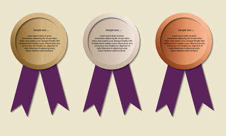 Medals with copy-space, symbol for winning and success, Medals for Olympic games, vector Vector
