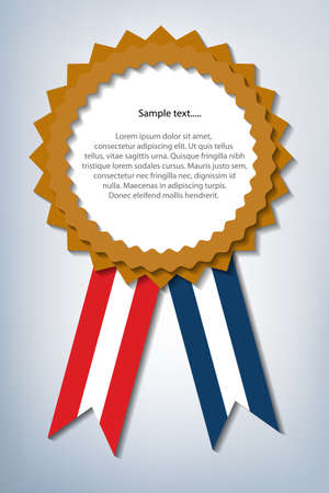 Prize with copy-space, symbol for winning and success Vector