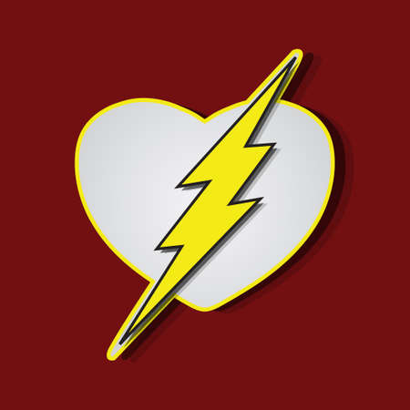Superhero shields shaped like a hearts, symbol for strong love, eps10 vector Vector