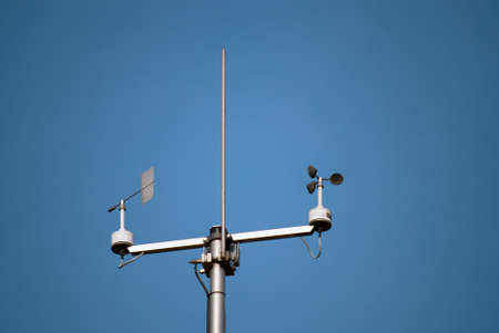 meteorological: Weather station to monitor weather and climate changes Stock Photo