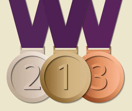 Prizes in ribbon, symbol for winning and success Vector