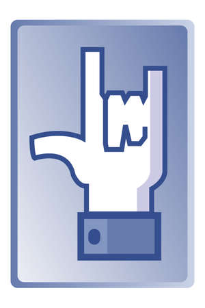 universal love: Signo de amor, s�mbolo de la mano universal, vector