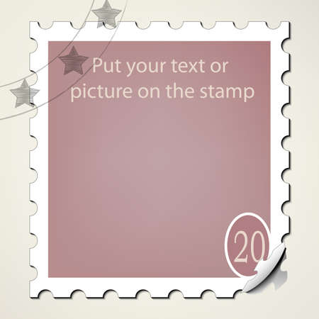 Put your text or picture on the postage stamp Stock Vector - 15982953