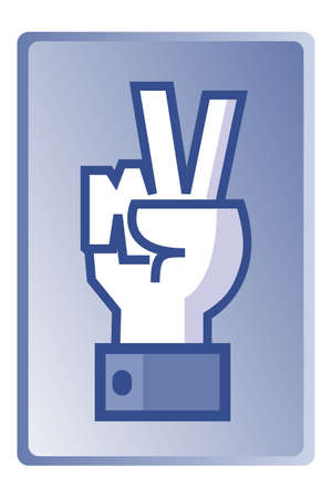 victory sign: Winner sign, universal hand symbol, vector
