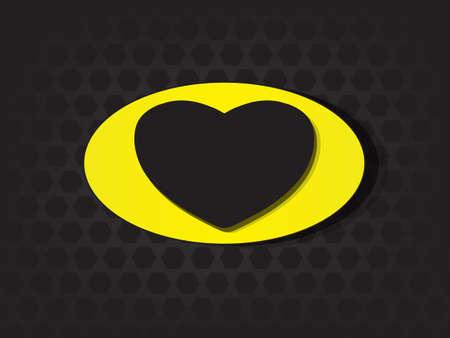 Superhero shields shaped like hearts, symbol for strong love, eps10 vector