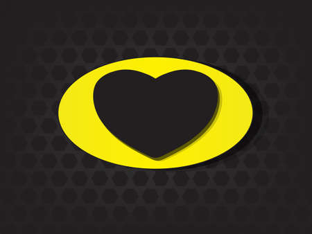 Superhero shields shaped like hearts, symbol for strong love, eps10 vector