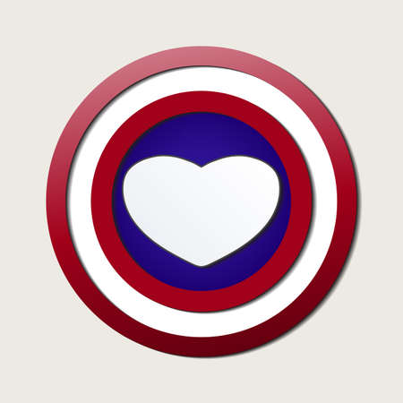 Superhero shields shaped like hearts, symbol for strong love, eps10 vector Vector