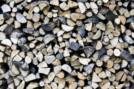 Chopped and stacked pile of wood Stock Photo - 16418274