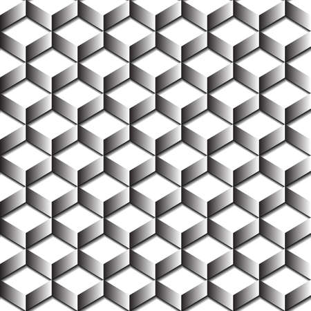Seamless abstract rectangle pattern with 3d effect Vector
