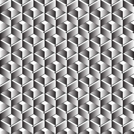 metal pattern: Seamless abstract rectangle pattern with 3d effect, illustration