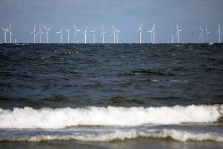 Wind turbines in the ocean, offshore energy Stock Photo - 17766207