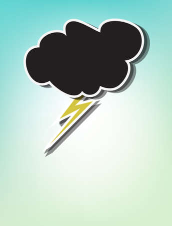 Hand drawn thunderstorm, conceptual for bad weather or a bad day, with copy-space Stock Vector - 18496233