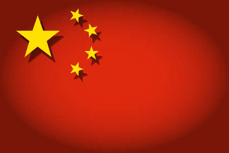 china flag: The flag of the People Illustration