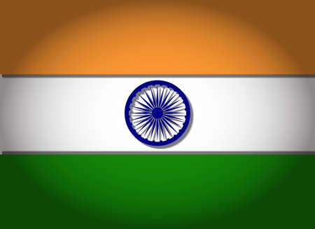 tricolour: Tiranga Jhanda, the tricolour flag, the national flag of India, with 3D depth and vignetting Illustration