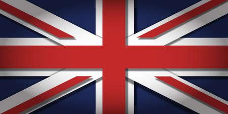 profundidad: La bandera del Reino Unido con la profundidad 3D y vi�etas
