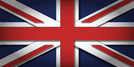 The Union Jack with 3D depth and vignetting Vettoriali