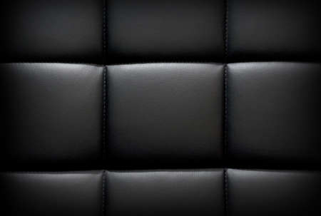 Black dark leather background, texture with vignette Stock Photo - 18495910