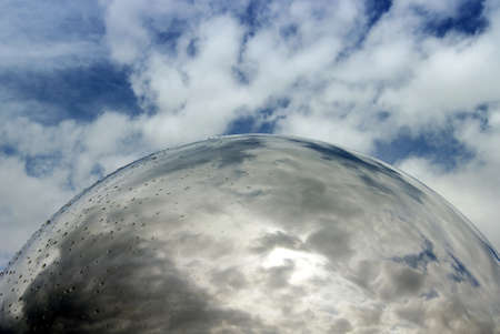 Abstract photo of the sky seen through a sphere Stock Photo - 18495879