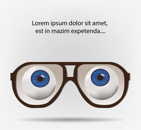 Eyes looking through pilot glasses on blank space for your text Stock Vector - 19497393
