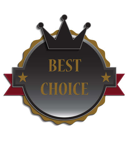 recommended: Best choice label, illustration