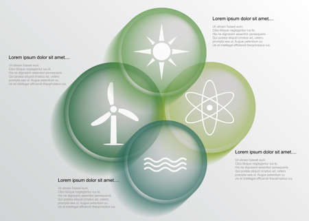 Abstract energy infographic with transparent circles Vector