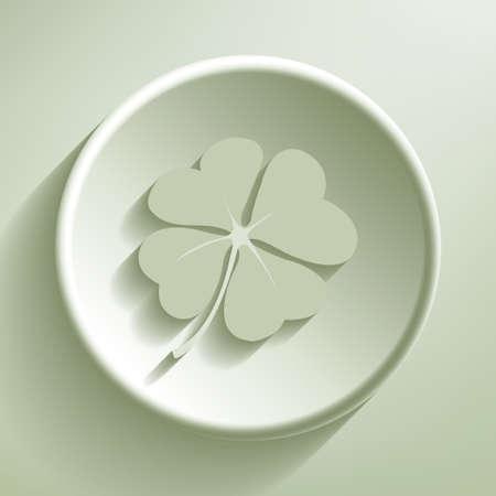 Green line circle icon, illustration Illustration