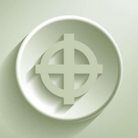 Green line circle icon, illustration Vector