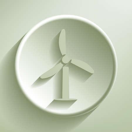 Green line circle icon, illustration Stock Vector - 20070631