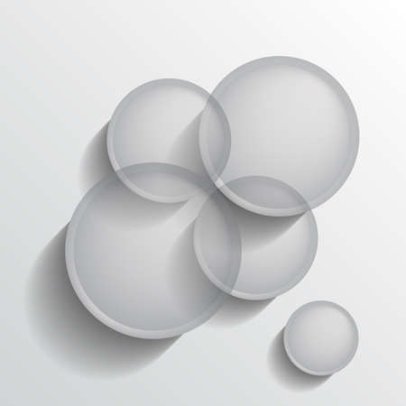 Abstract background with transparent grey circles