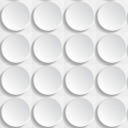 square shape: Abstract seamless white background with buttons