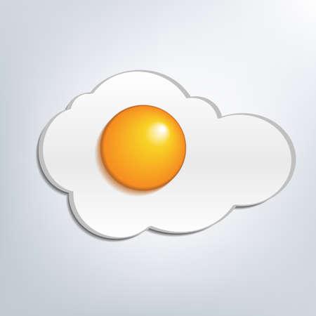 fritto: Close-up di uova fritte
