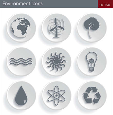 Ecology and energy icons Vector