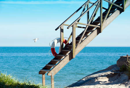 Stairway from heaven to the beach photo