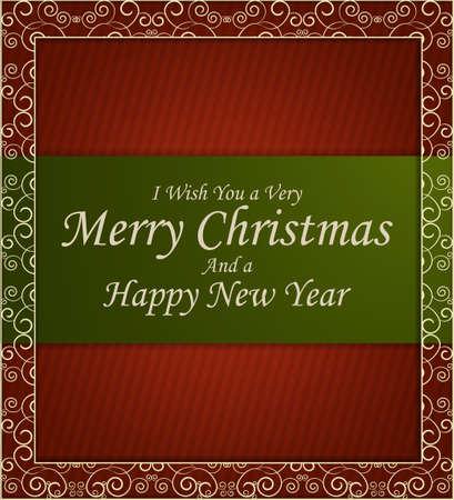 elegant vector: Classic Christmas card, elegant vector illustration