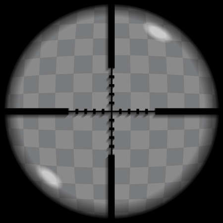 eyepiece: Put your text or picture behind the crosshair, crosshair or reticle Illustration