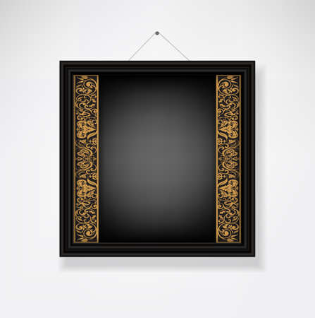 Classic empty picture frame with copy-space Stock Vector - 25036768
