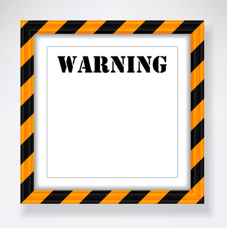 Picture frame with warning pattern Stock Vector - 25036531
