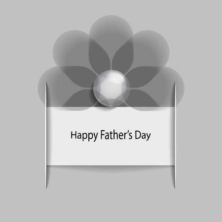 fathers day background: Happy fathers day background with abstract flower Illustration
