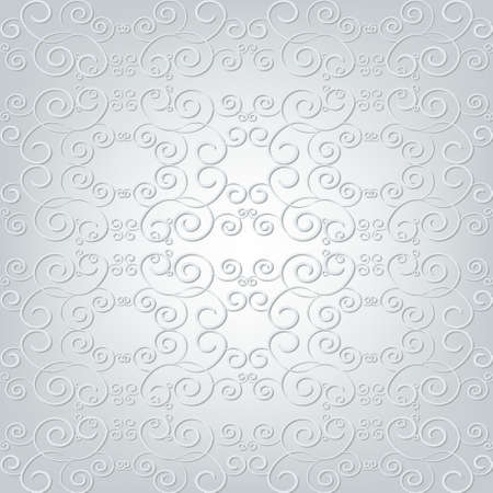 ornamented: Elegant ornamented background with 3D effect Illustration