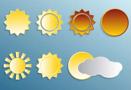 profundidad: Puesta del sol, los diferentes tipos de sol con profundidad y sombra