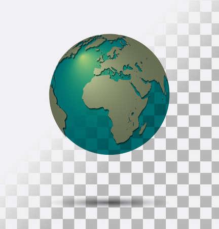 Een Transparante Bol van de aarde