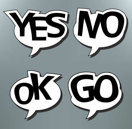 Set of speech bubbles with messages Vector