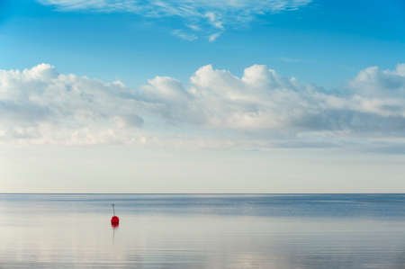 buoy: Beautiful summer background with red buoy