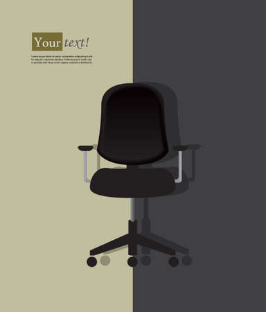 vacant: Background with black office chair and shadow